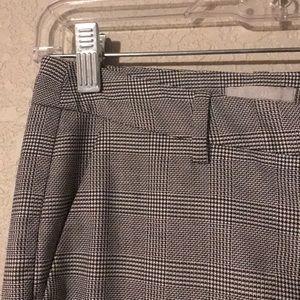 H&M Plaid Straight Leg Slacks